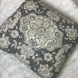 Other - Throw Pillow Gray and Cream Floral Large